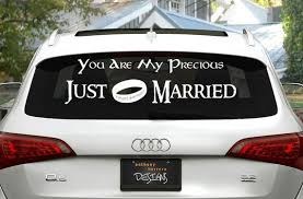 Lord Of The Rings Just Married Wedding Vinyl Decal Just Married Car Just Married Geek Wedding