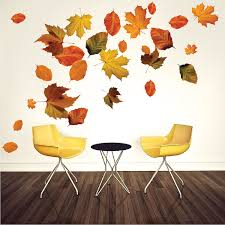 autumn leaves wall mural decal