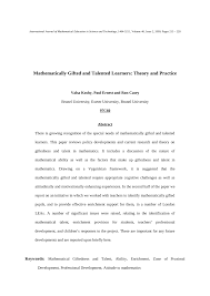 pdf mathematically gifted and talented