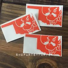 Pistol Pete Oklahoma Decal By Shopartsyfartsy On Etsy 5 Oklahoma State Pistol Pete Yeti Decals Cricut Crafts