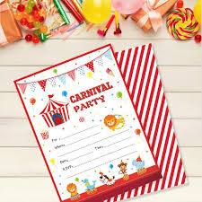 Compre Invitaciones De Fiesta De Carnaval Tarjetas Dibujos