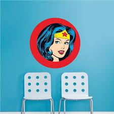 Wonder Woman Wall Decal Wonder Woman Bedroom Decor Wonder Woman Wallpaper Sticker Superhero Wall Design Superhero Wall Wall Decals Wallpaper Stickers