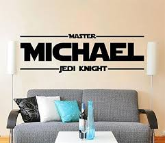 Star Wars Custom Name Decal Quote Jedi Knight Vinyl Wall Decals Sticker Custom Personalized Name Decor Kids Boys Room Nursery Art Baby B0771vcmcn