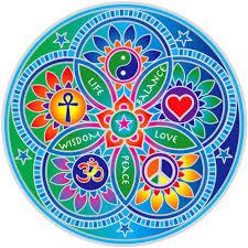 Amazon Com Living Energies Mandala Window Sticker Decal 5 5 Circular Arts Crafts Sewing