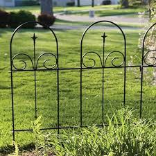 Panacea Wire Garden Border Fence W Finial 35 5 W X 41 75 H At Bestnest Com Garden Borders Wooden Garden Borders Metal Garden Edging