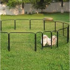 16 Panels Playpen Large Barrier Metal Dog Pen In 2020 Temporary Fence For Dogs Pet Fence Portable Dog Fence