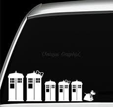 Tardis Family Car Window Decals Doctor Who Tardis Tardis Dr Who
