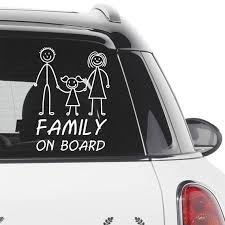 Family On Board Car Sticker Decal Car Window Decal Family Etsy
