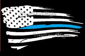 Thin Blue Line Decal Blue Line Flag Thin Blue Line Flag Police Decal Police Lives Matter Thin Blue Line Blue Line Car Decal Police