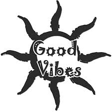 Amazon Com Luke Duke Decals Good Vibes Artistic Sun Wall Mural Decorative Sticker Decal 13 X 13 For Any Clean Surface Home Kitchen