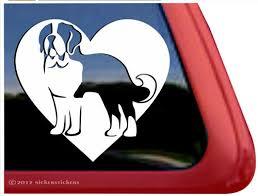 Custom Saint Bernard Dog Decals Stickers Nickerstickers