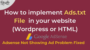 how to implement ads txt file in your