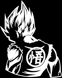 Amazon Com Dragon Ball Z Dbz Goku Super Saiyan Anime Decal Sticker For Car Truck Laptop 6 2 X 5 0 White Arts Crafts Sewing