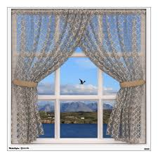 Isle Of Skye Sea And Hills View From Faux Window Wall Decal Zazzle Com