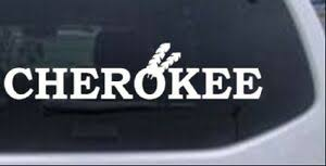 Cherokee Indian Car Or Truck Window Laptop Decal Sticker White 10x2 2 Ebay