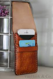 leather cell phone wallet hand