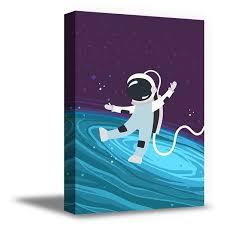Awkward Styles Spaceman Canvas Art Spaceman Art Nursery Room Wall Art Kids Room Decor Gifts For