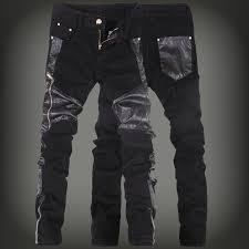 men faux leather jeans pant mens skinny