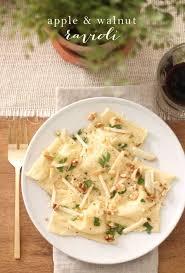 skinny apple walnut ravioli recipe