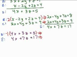 system of equations 3 variables 1
