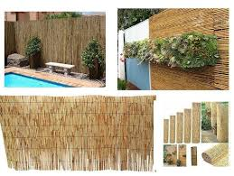 4m Outdoor Bamboo Screening Roll Natural Fence Panel Peeled Reed Fencing Garden Ebay