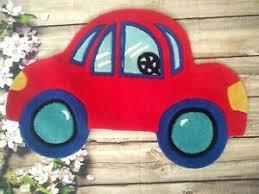 Fun Rugs Red Car Shaped Vw Bug Beetle Rug Kids Boys Play Room 21 X 32 Nylon Ebay