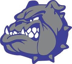 5in X 4 5in Blue And Gray Die Cut Bulldog Mascots Bumper Sticker Vinyl Window Decal Stickertalk