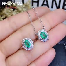 5a natural emerald jewelry sets