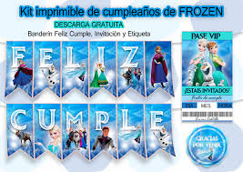 Kit De Cumpleanos Imprimible Frozen Arte Con Photoshop