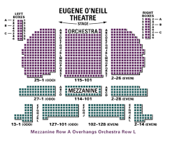 eugene o neill theatre seating chart