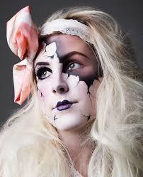 broken china doll makeup
