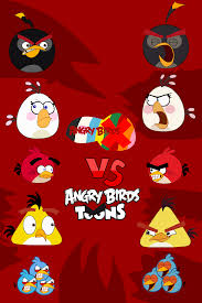 Angry Birds X Vs. Angry Birds Toons by jared33 on DeviantArt
