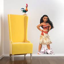 Moana Kids Decal Mural Design Disney Princess Wall Mural Decal Moana Girls Birthday Theme Decor Kids Room Wall Decals Wall Mural Decals Wall Stickers Kids
