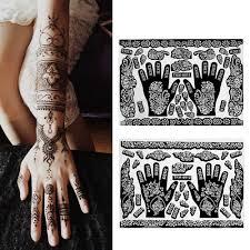 Moda Henna Indyjski Tymczasowy Tatuaz Szablony Rece Stopy Tatuaz