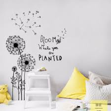 Black And White Flower Wall Decals Uk Floral South Africa Design Grass Etsy Pink Purple Amazon Toddler Room Vamosrayos