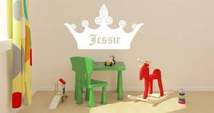 Personalized Lettering Crown Wall Decals Dezign With A Z