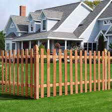 1 In X 4 In X 3 1 2 Ft Western Red Cedar Flat Top Fence Picket 27 Pack 239671 The Home Depot Fence Panels Outdoor Essentials Wood Fence