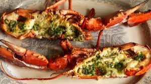 Lobster with garlic butter
