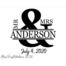 Wedding Designs Blue Vinyl Stickers