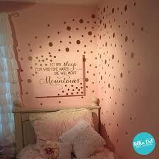 Metallic Gold Polka Dot Wall Decals On A Soft Powder Pink Wall Customer Shared Photo Polka Dot Walls Girl Room Polka Dot Wall Decals