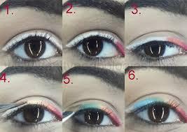 rainbow eye makeup eyeliner look easily