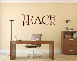 Teach Peace Decal Peace Wall Decal Classroom Wall Decal Teach Love Inspire