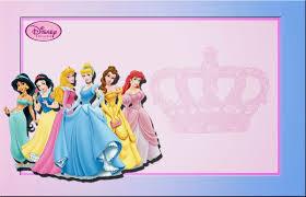 Princesas Disney Invitaciones O Marcos Para Imprimir Gratis