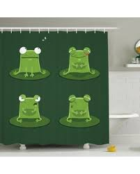 New Savings On Kids Room Decor Frogs In Pond Shower Curtain Set Ambesonne