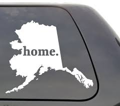 State Us Window Sticker Car Truck Ak Alaska Silhouette Die Cut Vinyl Decal