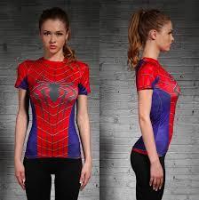 spider man women s pression shirt