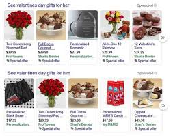 top valentines gifts in paid search