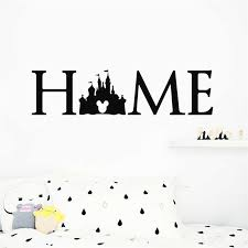 disney princess castle logo wall decal quotes mickey mouse sticker
