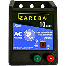 Amazon Com Zareba Eac10mz 10 Miles Ac Low Impedance Electric Fence Charger Powers Up To 10 Miles Of Fence Low Impedence Technology Allows Less Battery Drain Works In Heavy Weed Condition Made In