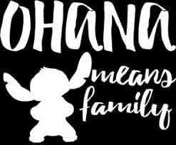 Amazon Com Vdc Ohana Means Family Stitch White Vinyl Car Laptop Window Wall Decal Arts Crafts Sewing